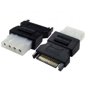 SATA Serial ATA 15 Pin Male to 4 pin Female Molex Power Converter Adaptor