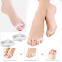 2pcs New Silicone Gel Toe Straightener Separator Bunion Corrector Pain Relief H#