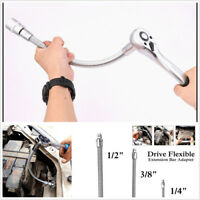 3 Pcs Flexible Extension Spring Shaft Connecting Rod Socket Wrench Hand Tool Set