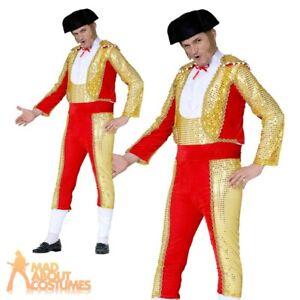 Adult Mens Spanish Bullfighter Matador Costume Mexican Man Fancy Dress Outfit