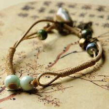 Fashion Women Lucky Bracelets Ceramics Flower Leaf Bracelet Bangle Gift Jewelry