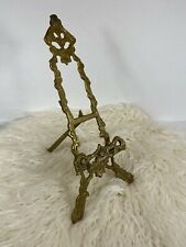 Vintage Solid Brass Table Top Book Photo Frame Display Stand Easel ART NOUVEAU