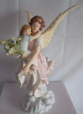 The Guardian Angel Statue By Veronese Design 28cm Studio Collection  Nemesis Now
