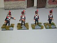 Napoleonic French Artillery Gunners expertly painted & based 1/30 scale metal