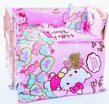 hello kitty cat pink crib sheets bedding cot set 6pcs Nursery baby girl infant