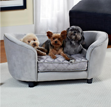 Dog Sofa Couch Bed Royal Velvet Plush Cozy Soft Pet Cat Cushion Pad Kennel Cover