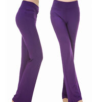 Elastic High Waist Flared Leg Yoga Trousers Women Casual Dance Fitness Pants
