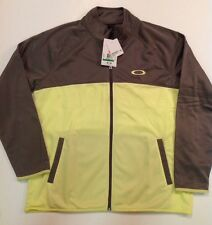 NWTS 65$ OAKLEY MENS Worked Up Full Zip WATER REPELLANT Training Jacket SZ L