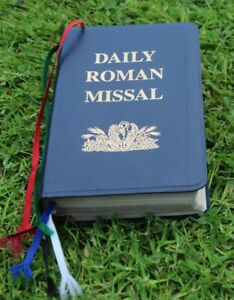 Daily Roman Missal 1993 Blue Leather Bonded Book Clean