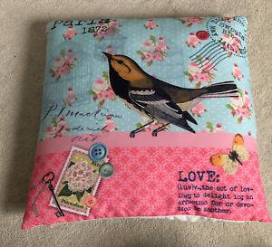Bird With Floral Design Cushion
