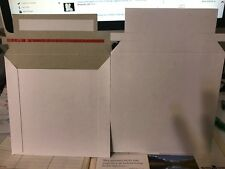 Rigid Mailers 6x6 Paperboard Stay Flat Pack of 50 white photo Cd DVD ETC..,!