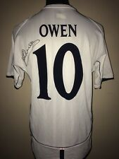 England 5 Germany 1 Embroidered Shirt Signed By Michael Owen With Guarantee