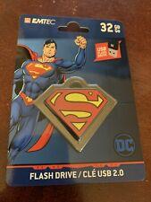 Superman 32GB Flash Drive Keychain NEW SEALED Emtec DC Comics 32 GB