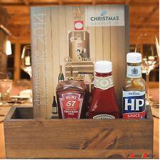 JOBLOT X10 DARK OAK Pine Wood Table Tidy Condiment Holder caddies THICK handmade