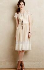 Anthropologie Moulinette Soeurs Poema Lace Dress Ivory | 0 XS