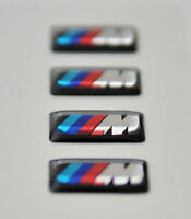 4xBMW M POWER BADGES M SPORT ALLOY WHEELS Sticker/Emblem printed on CHROME vynyl