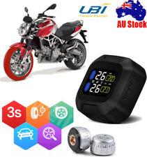 LCD Motorcycle Wireless Tire Tyre Pressure Monitor System+2 External Sensors AU