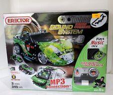 NIB ERECTOR BY MECCANO TUNER SOUND SYSTEM RADIO CONTROL BIG DJ GREEN CAR
