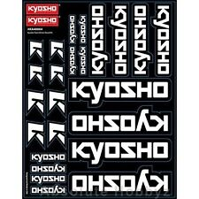 Kyosho Team Decal Sheet -Black - KYOKA40004