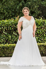 Tailor Made All Sizes Plus Size New Stunning Beadworks Wedding Gown Bridal Dress