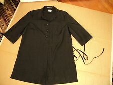 Sportscraft Long Shirt Black 10 Tunic Tie Waist