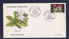 Polynésie   enveloppe  1er jour    fleurs  1969