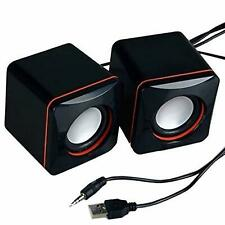 USB Powered PC Mini Speakers Set Computer Laptop Desktop Mac Portable Player