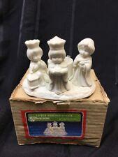 """""""Christmas Around the World"""" Little Wisemen Votive (4"""" tall) New In Box, Bisque"""