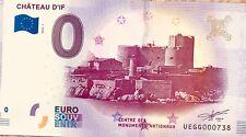 BILLET 0 EURO SOUVENIR TOURISTIQUE CHATEAU D'IF  2018