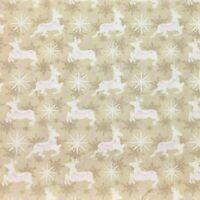 Christmas Metallic Snowflake fabric Ice Blue or Grey per Fat Quarter