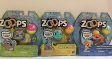ZOOPS ~ Lot Of 3 Characters ~ WACKY ZOOMING ANIMALS ~ NEW!  Batteries Included!