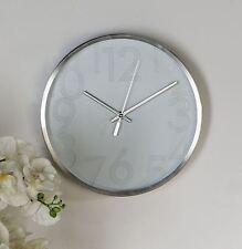 33905 Reloj BIANCO fabricado en Aluminio Plástico Plata Borde de cepillado