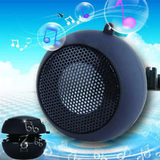 Black Mini Portable Hamburger Speaker For iPod iPhone Tablet Laptop PC MP3 GA