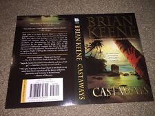 Signed Castaways Brian Keene Postcard/Simulated Book Cover Horror Author (LL)