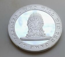 Game of Thrones Silver Coin Iron Throne Map Sci Fi Fantasy Castles Sea Islands