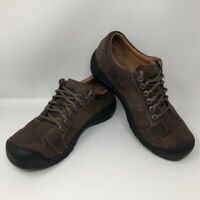 KEEN Mens Austin Casual Oxfords Shoes Brown Leather 1007722 Laces Rubber Toe 12