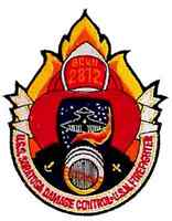 """Space Above & Beyond USS Saratoga Fire Fighters 4."""" Patch- USA Maile  (SABPA-03)"""