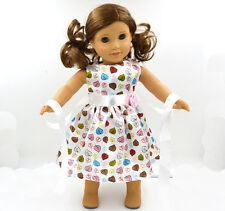 2017 gnew Handmade fashion clothes dress for 18inch American girl doll party b31
