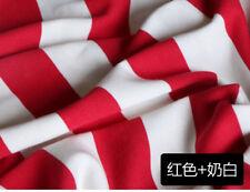 Fall 100% Cotton Wide 4cm Cross Stripe Sweater Sportswear Knit Yarn Dyed Fabric