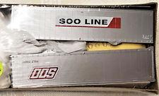 Athearn 05179 HO 1 SOO LINE 40' trailers NIB / 8
