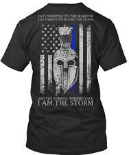 Thin Blue Line I Am The Storm Fate BELLA+CANVAS Unisex Premium Jersey V-Neck