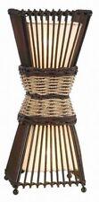 Bamboo Bambus Leuchte Lampe rattan Tischleuchte Tischlampe Stoff Orient Asia OVP