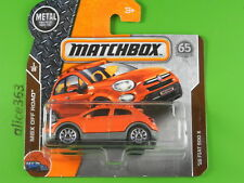 Matchbox 2018 -  ´16 Fiat 500 X  -  MBX Road Trip  -  12  -  neu in OVP