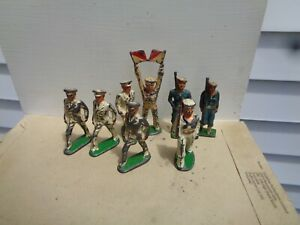 Manoil Barclay Medical Grey Iron Navy Sailors soldier lot vintage lead toys, JJ
