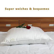 DUCK GOOSE Luxury Soft Head Cushion, Hotel Pillow Microfiber Filling Cotton Cove