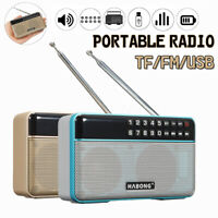 Portable FM Radio Stereo bluetooth Speaker Receiver USB SD TF Card MP3 Player