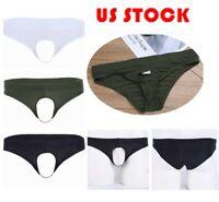 Men Boxer Penis Hole Briefs Bikini G-String Thongs Lingerie Underpants Lingeries