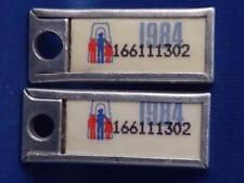 ONTARIO WAR AMPS TAG SET 1984 PAIR TAG KEY RING  MINI LICENSE PLATE 116611...