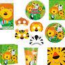 Jungle Animal Wild Safari Girls/Boys Birthday Party Tableware & Decorations