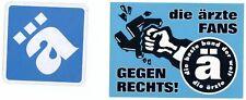 Die Ärzte - ä - und gegen Rechts Aufkleber / Sticker - Promoaufkleber - s Bilder